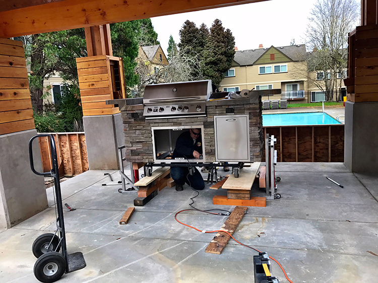 Installing an outdoor kitchen for the Springs resort | Sunset Outdoor Living
