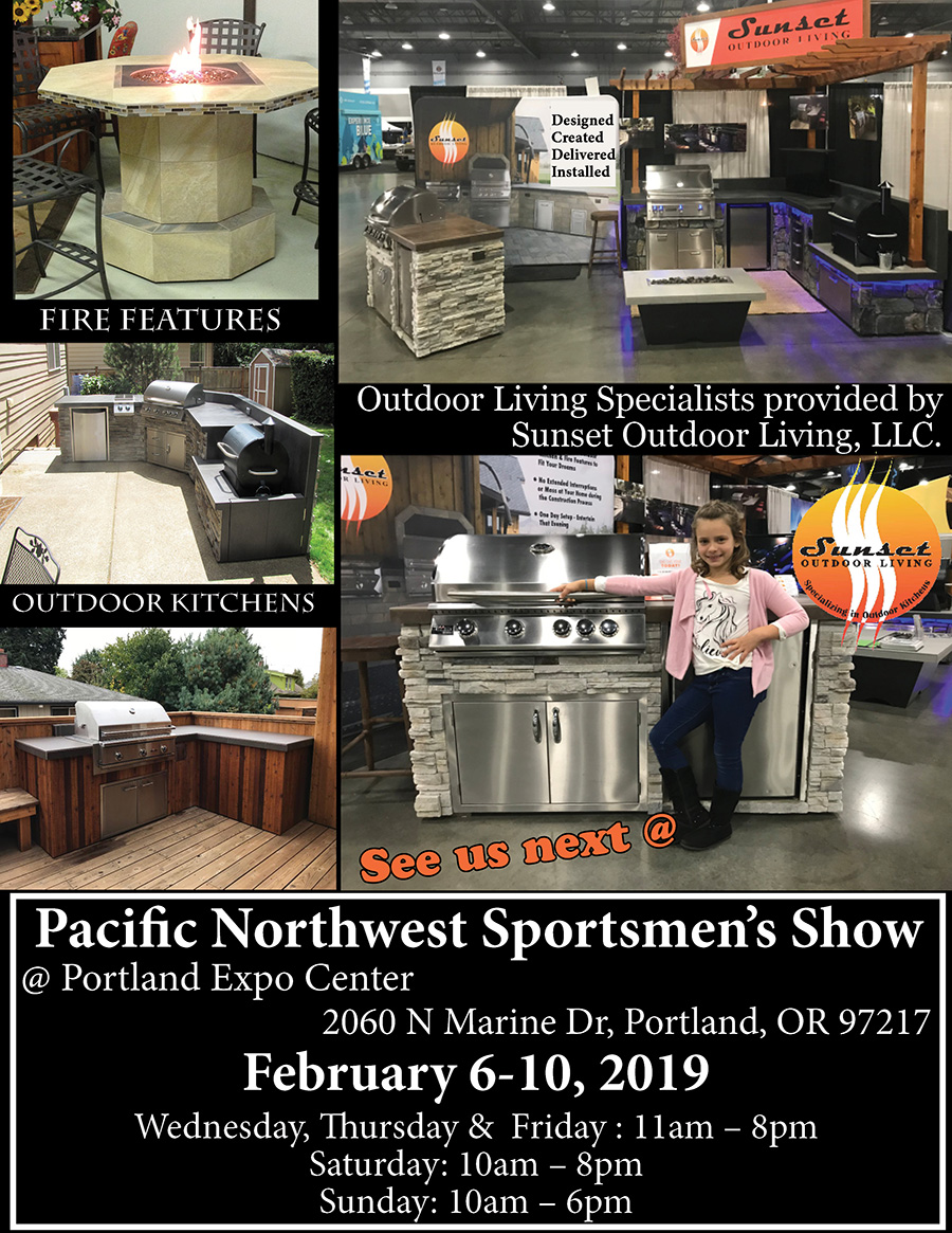 Sunset Outdoor Living Co-Hosting at the Pacific Northwest Sportsmen's Show February 2019